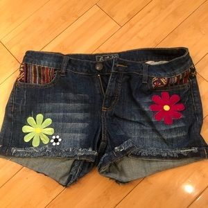 Roots denim shorts - bohemian